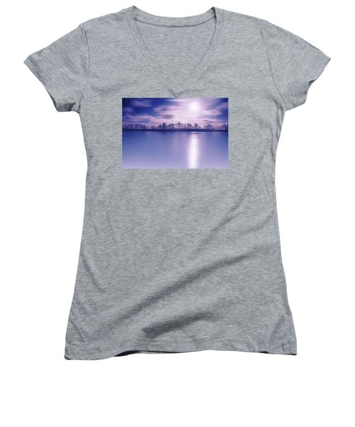 Back To The Moon Women's V-Neck