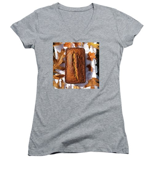 Banana Bread With Rum, Ginger And White Whole Wheat Women's V-Neck