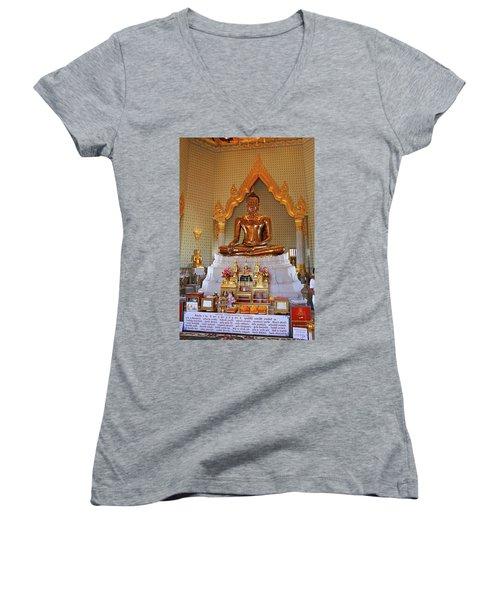 Bangkok, Thailand - Golden Buddha Women's V-Neck