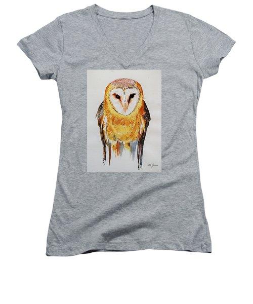 Barn Owl Drip Women's V-Neck