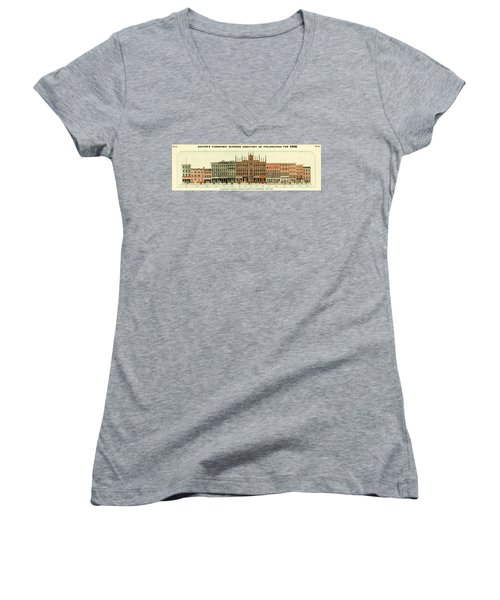 Baxter's Panoramic Business Directory Women's V-Neck