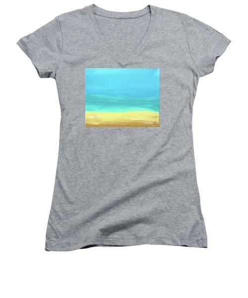 Beach Abstract Women's V-Neck