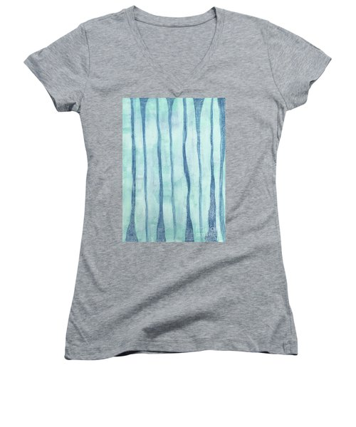 Beach Collection Beach Water Lines 2 Women's V-Neck