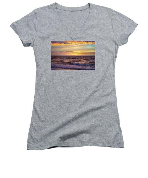 Beach Sunrise Women's V-Neck