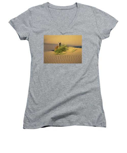 Beachgrass And Ripples Women's V-Neck