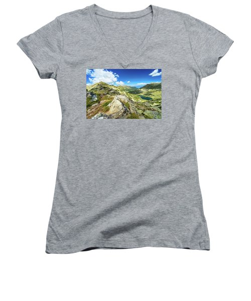 Beautiful Landscape Of Pirin Mountain Women's V-Neck