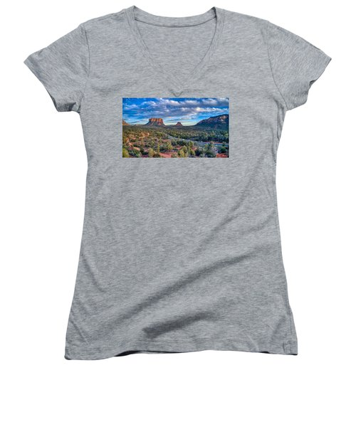 Bell Rock Scenic View Sedona Women's V-Neck