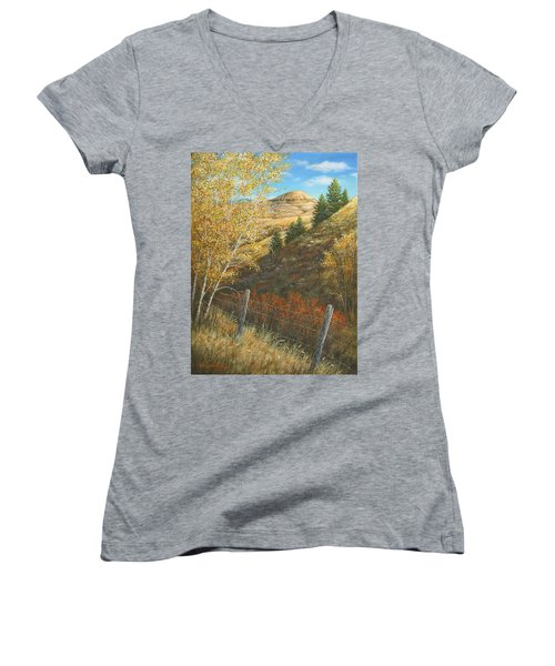 Belt Butte Autumn Women's V-Neck
