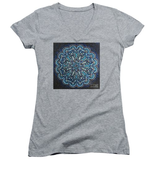 Blue Mandala Women's V-Neck