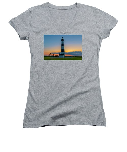 Bodie Island Lighthouse, Hatteras, Outer Bank Women's V-Neck