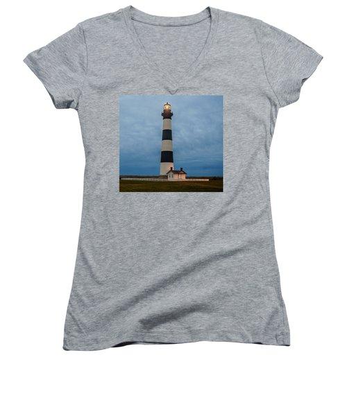 Bodie Island Lighthouse  Women's V-Neck