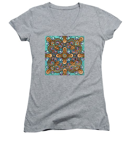 Botanical Mandala 7 Women's V-Neck