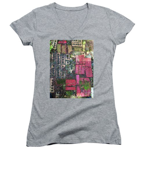 Brick Composition 3 Women's V-Neck (Athletic Fit)