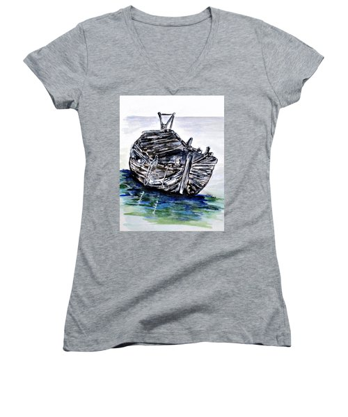 Broken But Afloat Women's V-Neck
