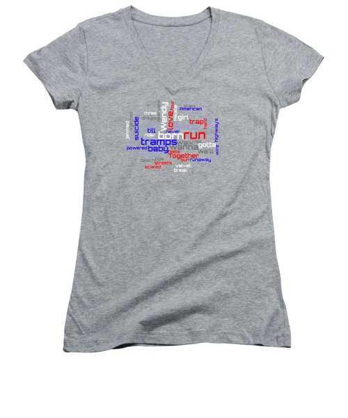 Bruce Springsteen - Born To Run Lyrical Cloud Women's V-Neck