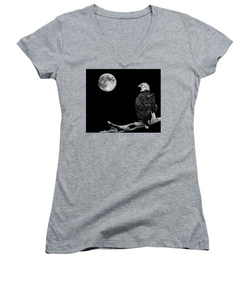 By The Light Of The Moon Women's V-Neck