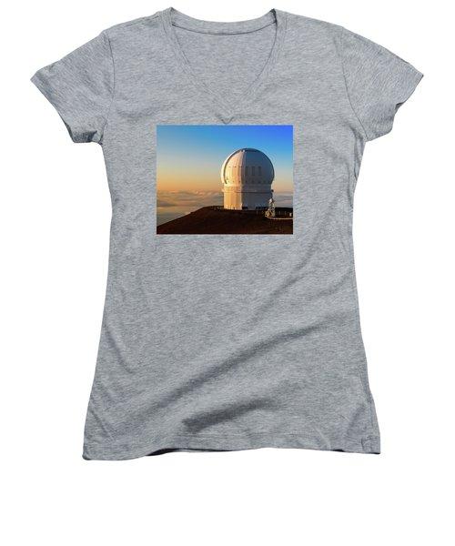 Canada-france-hawaii Telescope Women's V-Neck