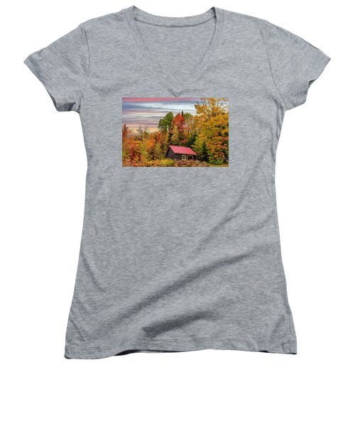 Canadian Autumn Women's V-Neck