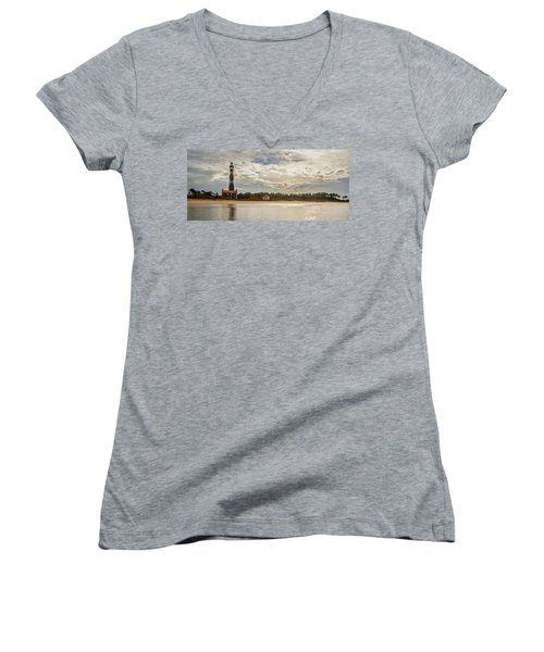 Cape Lookout Lighthouse No. 3 Women's V-Neck
