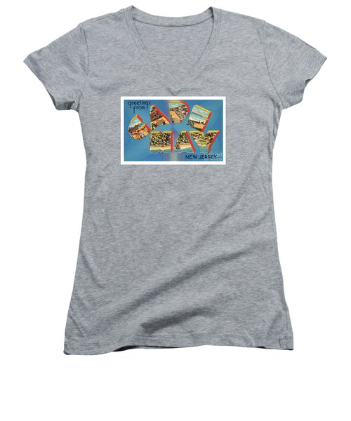 Cape May Greetings - Version 2 Women's V-Neck