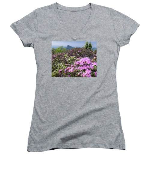Catawba Rhododendron Table Rock  Women's V-Neck