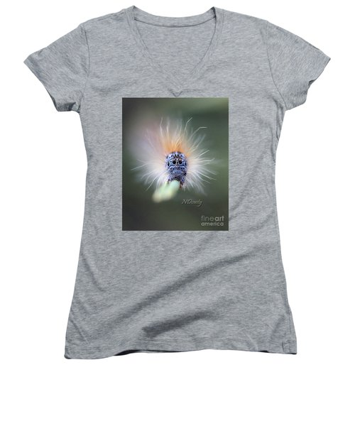 Caterpillar Face Women's V-Neck