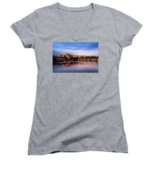 Charles Bridge Women's V-Neck