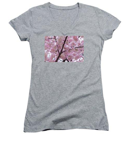 Cherry Blossoms 8611 Women's V-Neck