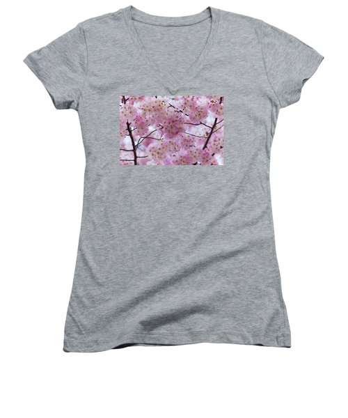 Cherry Blossoms 8625 Women's V-Neck