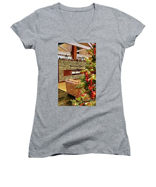 Christmas At Woodford Reserve Women's V-Neck