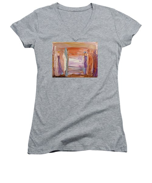 City Of Angels Women's V-Neck