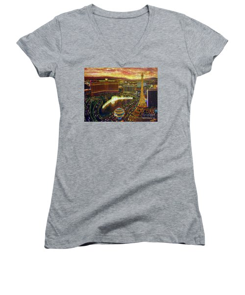 City Of Gold Women's V-Neck