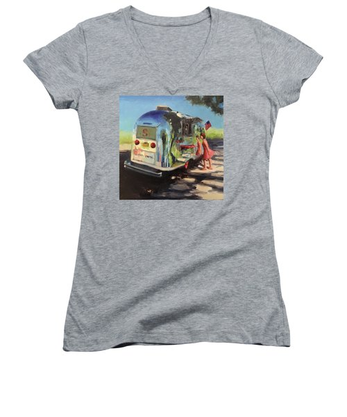 Coffee In The Shade Women's V-Neck