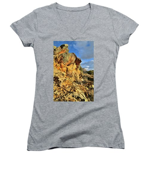 Colorful Crags In Colorado National Monument Women's V-Neck
