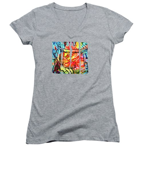 Colorful Dream Women's V-Neck (Athletic Fit)