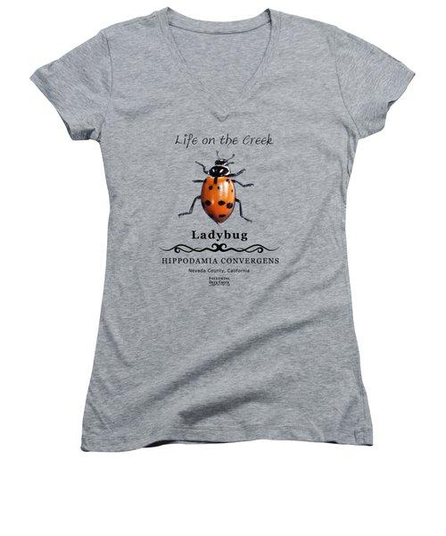 Convergens Ladybug Women's V-Neck