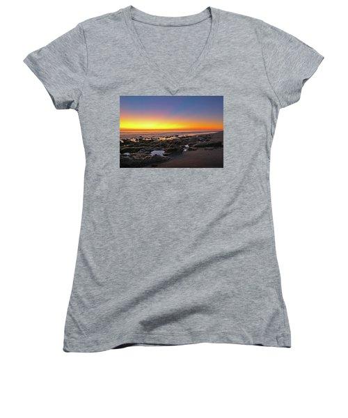 Coral Cove Nautical Twilight Women's V-Neck