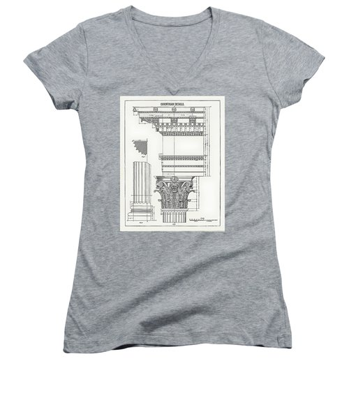 Corinthian Architecture Women's V-Neck