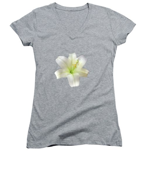 Cotton Seed Lilies Women's V-Neck