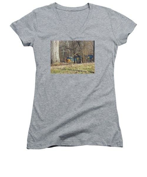Country Train Women's V-Neck