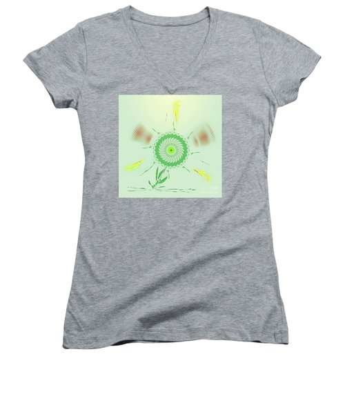 Crazy Spinning Flower Women's V-Neck