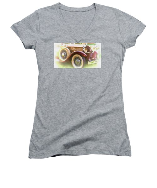 Cruise Into Tomorrow With Yesterday's Wheels Women's V-Neck