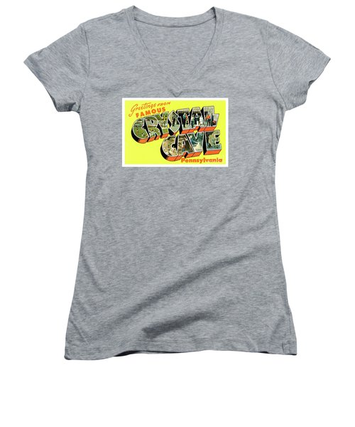 Crystal Cave Greetings Women's V-Neck