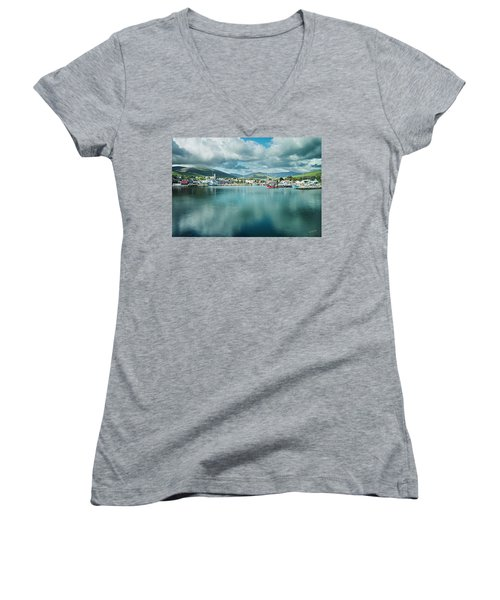 Women's V-Neck (Athletic Fit) featuring the photograph Dingle Delight by Dan McGeorge