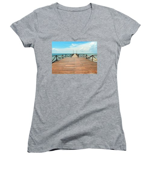 Dock To Infinity Women's V-Neck