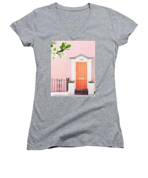 Door To Pastel Heaven Women's V-Neck
