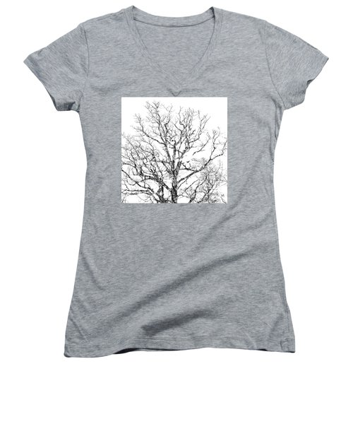Women's V-Neck featuring the photograph Double Exposure 1 by Steve Stanger