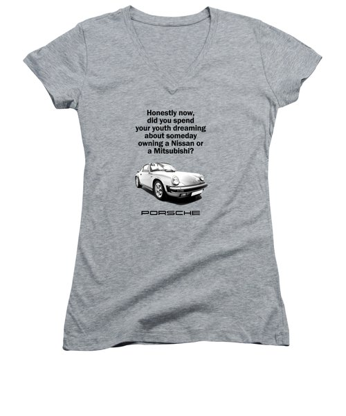 Dreaming Of A Porsche Women's V-Neck