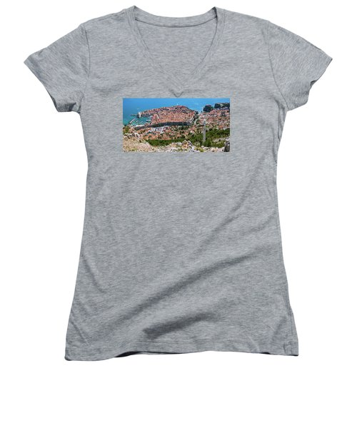 Dubrovnik Panorama From The Hill Women's V-Neck