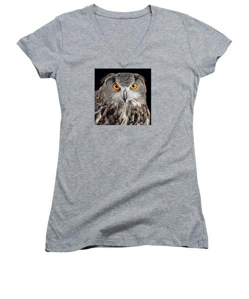 Eurasian Eagle Owl Women's V-Neck